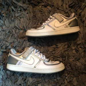 Nike Air Force 1 with silver and strap size 9